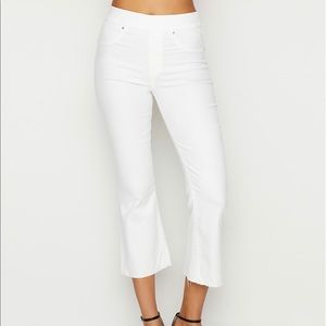 SPANX Cropped White Flare